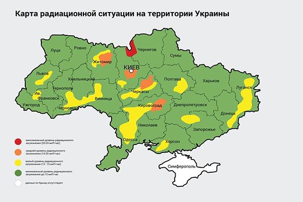 Карта радиации из Чернобыля