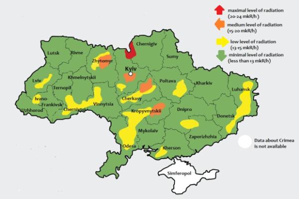 Map of Radiation from Chernobyl